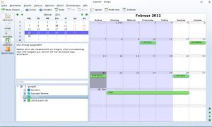 Kontact mit mehreren Kalendern